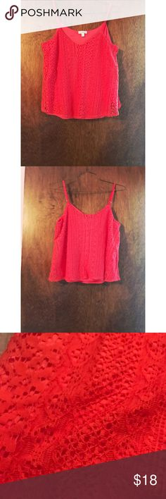 ⚡️FLASH SALE⚡️ NWOT Red Crochet Cami New Without Tags Charming Charlie Red Crochet Cami with Adjustable Straps. Size medium and true to size. It has a silky layer underneath and solid Crochet layer on top. No flaws! Feel free to ask any questions you may have. Offers welcome as well! Charming Charlie Tops Camisoles