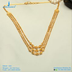 Gold 916 Premium Design Get in touch with us on Gold Necklace Simple, Gold Jewelry Simple, Gold Chain Design, Gold Jewellery Design, Diamond Jewellery, Indian Jewelry Sets, India Jewelry, Or Mat, Jewelry Patterns