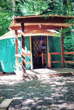 Yurt camping in Washington!