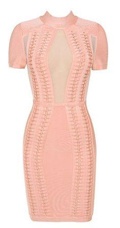 ILMA Pink Mesh Bandage Dress