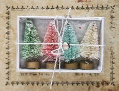 Hey, I found this really awesome Etsy listing at https://www.etsy.com/listing/199840042/set-of-4-mini-bottle-brush-trees-ice