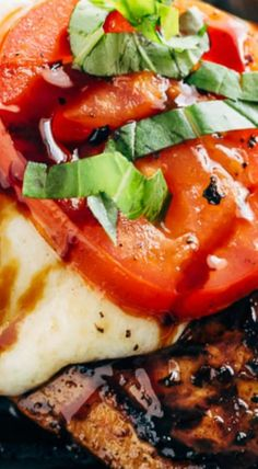 Grilled Chicken Caprese With Buffalo Mozzarella Cheese