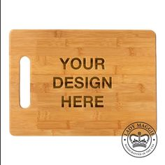 Custom Engraved Cutting Board 11.5x8.75 - Personalized with Any Design - Your Design Bamboo Chopping Board - Design Your Own Logo Board