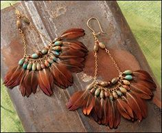 Free tutorial on how to make these feather earrings!