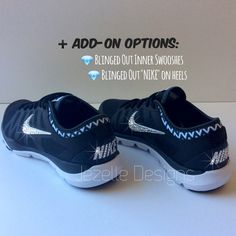 0f5bb9528c31bb Glitter Nike Shoes - Women s Nike Flex Supreme w  Swarovski Crystals