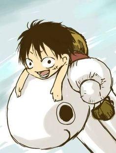 Chibi Luffy - monkey-d-luffy Fan Art