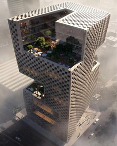 Snøhetta is making their mark on Lebanese soil with the Banque Libano Francaise& new headquarters in Beirut& Medawar District. They were recently commissioned to design the office building upon winning a two-stage international compet. Office Building Architecture, Futuristic Architecture, Amazing Architecture, Contemporary Architecture, Landscape Architecture, Interior Architecture, Chinese Architecture, Architecture Facts, Interior Design