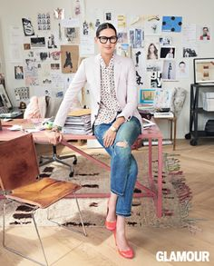 Jenna Lyons  The Creative Director of J. Crew  was recognized by Glamour magazine  as one of the most inspiring women of the year
