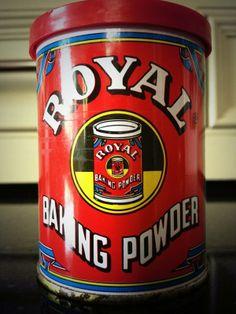 Retro baking powder font via Imparato Abbit Design Museum, Coffee Cans, Vintage Kitchen, Powder, Canning, Retro, Tins, Soda, Blood
