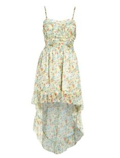 For those who like to wear dresses in summer, this floral dip hem dress is is perfect for sitting, standing, flouncing around at festivals as it's not too long or short and is a washable fabric. It's from New Look. add cropped denim jacket to finish off! Smart Dress, Cropped Denim Jacket, Dresses For Work, Summer Dresses, Festivals, Cap Sleeves, New Look, Dip, Floral
