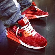 Nike Air Max 90 Red Velvet from the 25th anniversary pack @afrokix