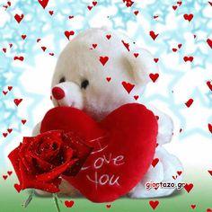 Στείλε ευχές γιορτής και γενεθλίων στα αγαπημένα σας προσωπα.:) Beautiful Love Pictures, I Love You Images, Love You Gif, Dont Love Me, Love Is Sweet, Cute Love, Valentine Love Quotes, Valentines Gif, Love Wallpapers Romantic