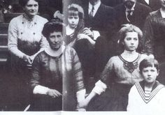 """Top row Princess Eleanore (Grand Duke's Ernst of Hesse's second wife) with Grand Duchess Anastasia. Next row: Princess Irene """"Aunt Nini"""", Grand Duchess Marie and Tsarevich Alexei. After the revolution Irene met with Anastasia claimant Anna Anderson. While saying Anderson had some resemblance to Tatiana she denied her claim. Her son supported Anderson's claim and argued with his Mother who insisted that while she was similar she simply wasn't her niece."""