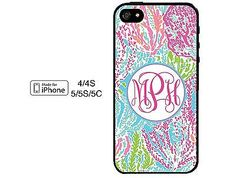 Lilly Pulitzer iPhone 6 Case 4 4S 5 5S 5C Monogrammed Personalized Case in Cell Phones & Accessories | eBay