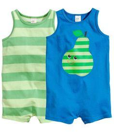 H&M 2-pack pyjamas 9,95 €  Que lindos pijaminhas para as noites quentes de Verão! Want them for baby D.! <3