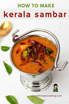 Kerala Sambar recipe is a perfect side dish for Idli, Dosa and Rice. It's a main dish for Onam Sadya as well. Made with yellow lentils, it has a variety of vegetables added to it. Indian Sambar Recipe, Quick Vegetarian Meals, Vegetarian Cooking, Cooking Recipes, Cooking Tips, Sambhar Recipe, Idli Recipe, Indian Lentil Curry