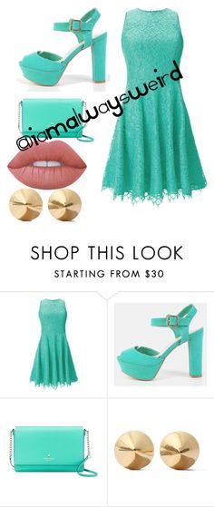 """""""Date Outfit"""" by ximenadb on Polyvore featuring Shoshanna, Kate Spade, Eddie Borgo y Lime Crime"""