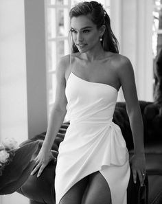 alon livne 2019 bridal real bride sleeveless thin straps sheath one shoulder ruc. alon livne 2019 bridal real bride sleeveless thin straps sheath one shoulder ruched waist wedding gown zv -- Here Comes the Bride, All Dressed in Alon Livné White Wedding Dress Black, Best Wedding Dresses, Wedding Gowns, Bridesmaid Dresses, Prom Dresses, Formal Dresses, Wedding White, Summer Wedding, Ruched Wedding Dress