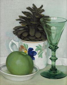 Gluck (Hannah Gluckstein) (British, 1895-1976), The Pine Cone. Oil on canvas, 25.5 x 20 cm.