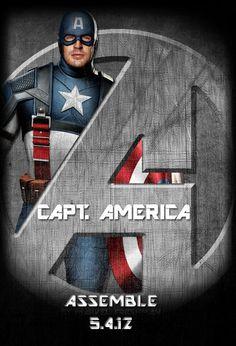 Avengers Standee: Capt America by Marvel-Freshman.deviantart.com on @deviantART