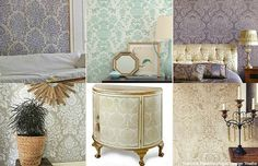 Get The Downton Abbey Home Decor Look With Damask Wall Stencils From Royal Design Studio