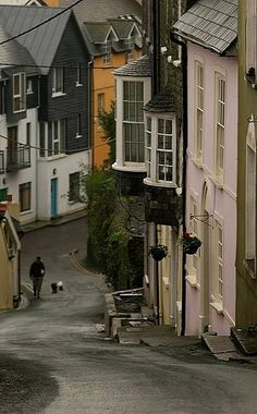 Winter streets in Kinsale, Cork, Ireland. Kinsale is a historic port and fishing town, which also has significant military history. Oh The Places You'll Go, Places To Travel, Places To Visit, Ireland Vacation, Ireland Travel, England, Voyage Europe, British Isles, Northern Ireland