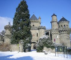 Löwenburg Castle (Lion Castle) The castle is located in the town of Kassel, in the Wilhelmshöhe Mountain Park, Germany