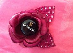 Guinness Maroon ROCKABILLY Hair Rose by ClassyNTrashy on Etsy, $10.00