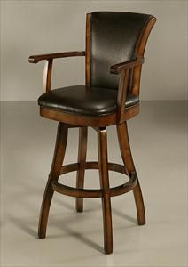 """Picture of Glenwood 26"""" Swivel Barstool with Arms"""
