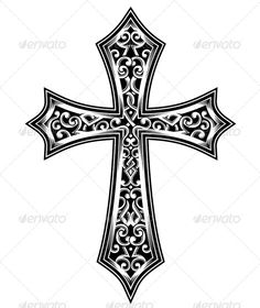 Ornate Christian Cross Vector  #GraphicRiver         fully editable vector illustration (editable EPS) of ornate celtic cross in black isolated on white background, suitable for design element, crest, coat of arms, emblem, insignia or tattoo design, package contains : JPG image 3600×5000 pixels and EPS vector file     Created: 1August13 GraphicsFilesIncluded: JPGImage #VectorEPS Layered: No MinimumAdobeCSVersion: CS Tags: CelticCross #blackandwhite #carved #