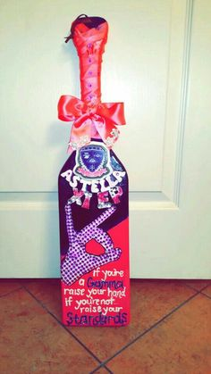 Sigma Lambda Gamma Paddle I made for my roommate. She loved it !