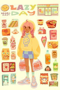 Dark Art Drawings, Pretty Drawings, Cute Illustration, Character Illustration, Pretty Art, Cute Art, Character Art, Character Design, Anime Art Girl