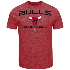 new style 7d105 9af11 NBA Chicago Bulls Majestic Jump Off Marled T-Shirt ΓÇô Red Basketball, Nba  Chicago