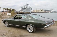 1969 Chevelle Malibu - my car's color, tho' not by my choice.