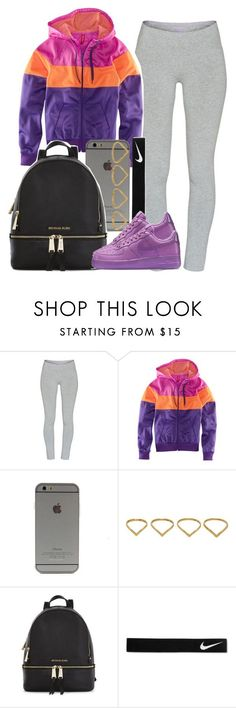 """....."" by ariangrant ❤ liked on Polyvore featuring мода, TNA, H&M, Ana Khouri, Michael Kors и NIKE"