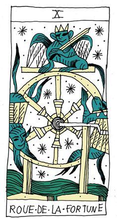 la roue de la fortune Art Print