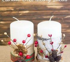 Best DIY Projects For Home Decorating: Festive Christmas Candles
