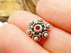 Tibétain Donut Spacer Beads 14 x 15 mm argent 20 pcs Art Hobby Fabrication de Bijoux