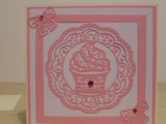 Birthday card using Tattered lace Piece of Cake die