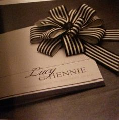 This was a picture I saw on Pinterest but just loved the black and white ribbon. I new the wedding had to be monochrome