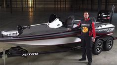 Bass-fishing superstars Kevin VanDam, Edwin Evers, and Rick Clunn introduce the all-new NITRO® high-performance fishing machine that's fast enough for . Bass Fishing Boats, Bass Boat, Nitro Boats, Largemouth Bass, Garage Design, Fishing Boats