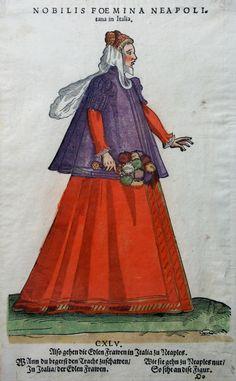 "ITALIEN NEAPEL KOSTÜME AMMAN / WEIGEL TRACHTEN BUCH ""Habitus praecipuorum"" 1577 | eBay"
