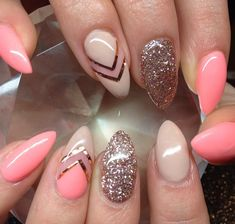 Check these out fall nails Almond Acrylic Nails, Almond Shape Nails, Summer Acrylic Nails, Almond Nails Designs, Acrylic Nail Designs, Nail Art Designs, Hot Nails, Hair And Nails, Latest Nail Designs