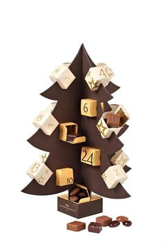 There's no better way to countdown the days until Christmas than with this playful creation of the advent calendar created by La Maison du Chocolat.