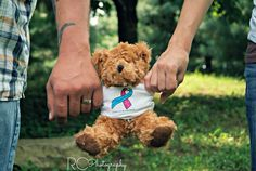 remember me photo idea....this is the infant loss awareness ribbon on the teddy's shirt.