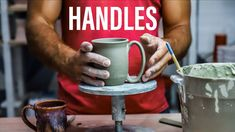 This video is all about tips and tricks for making and attaching clay handles to pottery/ceramic mugs. Mocha Monkey and Pottery Studio: Send me stuff or visi. Pottery Videos, Pottery Studio, Ceramic Mugs, Clay, Handle, Make It Yourself, Tableware, Tips, Youtube