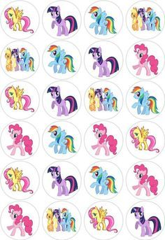 My Little Pony Party, Cumple My Little Pony, My Little Pony Cupcakes, My Lil Pony, Rainbow Dash Party, Unicorn Birthday, Unicorn Party, Imagenes My Little Pony, Little Poney