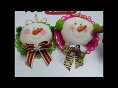 lindos hombre de nieve para decorar el árbol de navidad, - YouTube