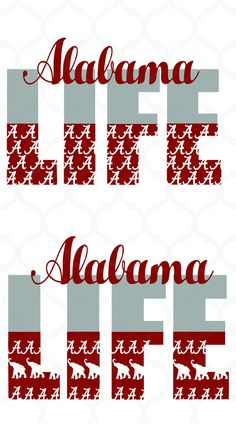 Alabama Crimson Tide Alabama svgcrimson svgroll tide by Dxfstore Auburn Alabama, Alabama Crimson Tide, Alabama Football Quotes, Vinyl Monogram, Vinyl Lettering, Lettering Ideas, University Of Alabama, Silhouette Cameo Projects, Applique Patterns