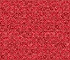 Autumn Mums 2 fabric by blackwood on Spoonflower - custom fabric